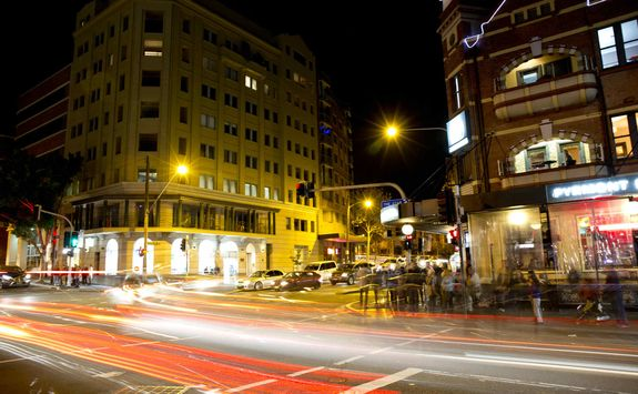 Sydney Street at Night