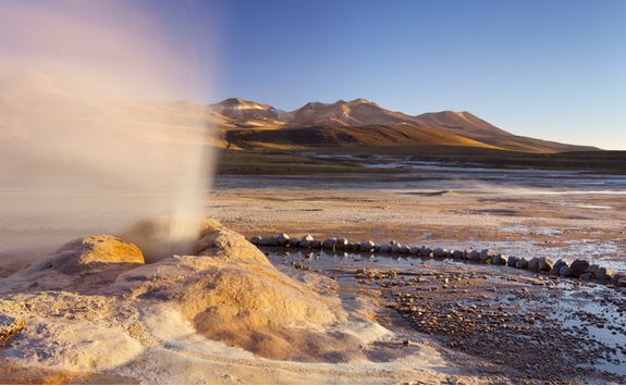 Geyser in the Desert