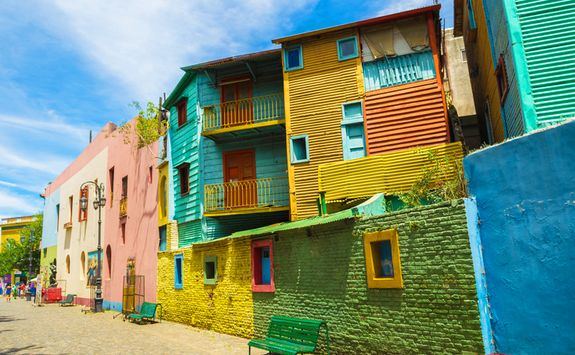 colourful houses in La Boca district