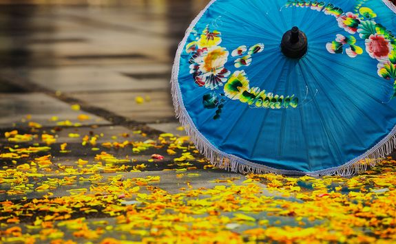 Chiang Mai lake parasol