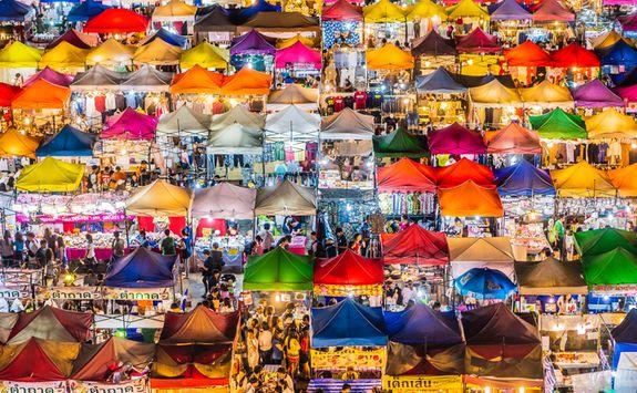 Market stalls in Bangkok