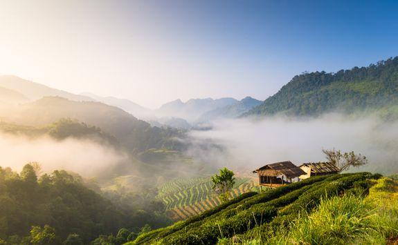 Chiang Rai panoramic sunrise views