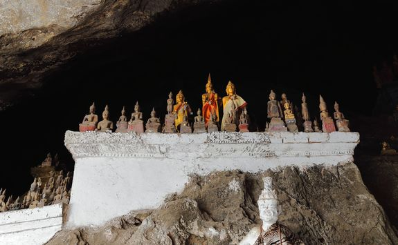 Golden statues in Laos