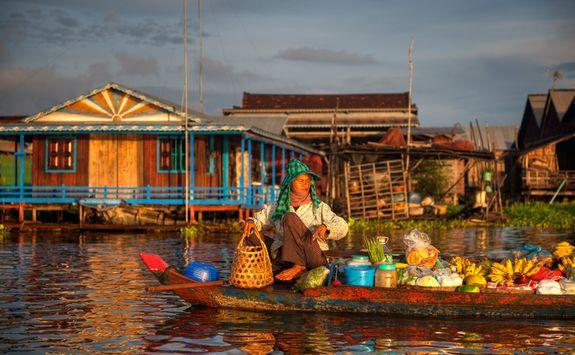 a market boat in siem reap