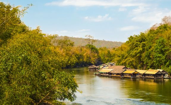 Floating houses on the River Kwai