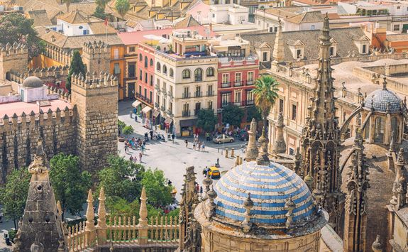 View from Seville's cathedral