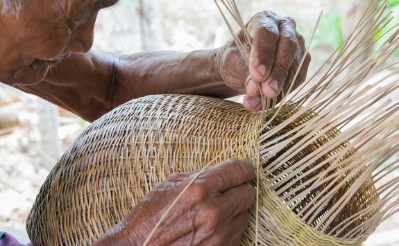 Bamboo weaving basket