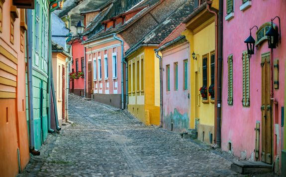 colourful cobbled streets