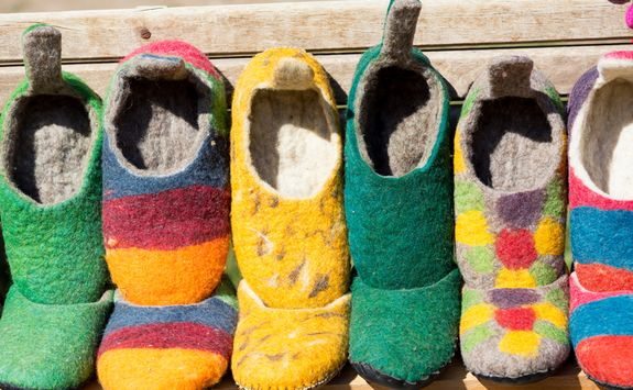 tradtional wool shoes