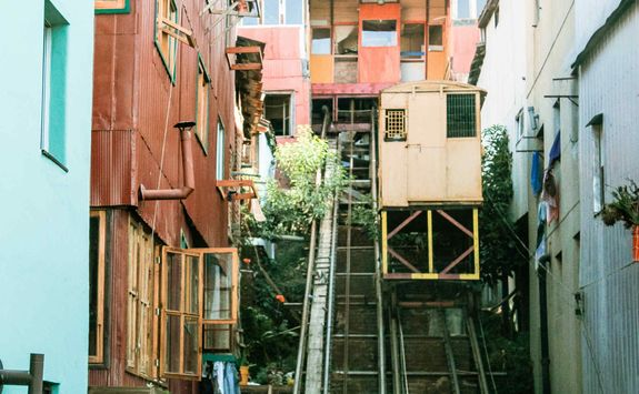 Traditional elevators in Valparaiso