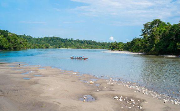 Canoe ride through the rainforest