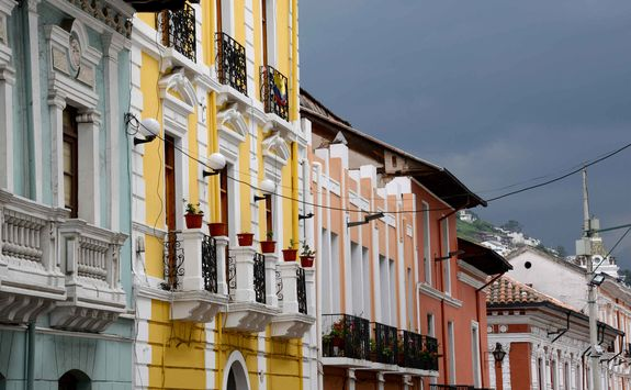 Quito colonial buildings