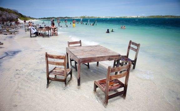 Chairs and Table on a Beach