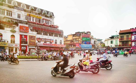 Busy Hanoi street