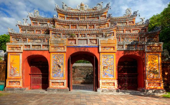 Building in the Imperial City of Hue