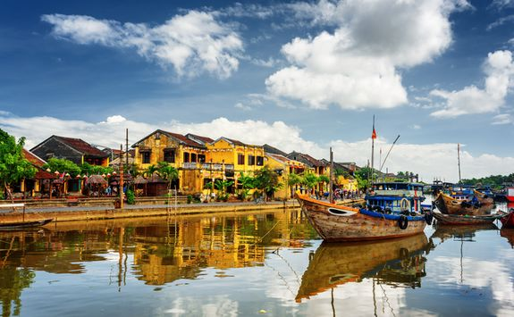 Wooden boats in Hoi An