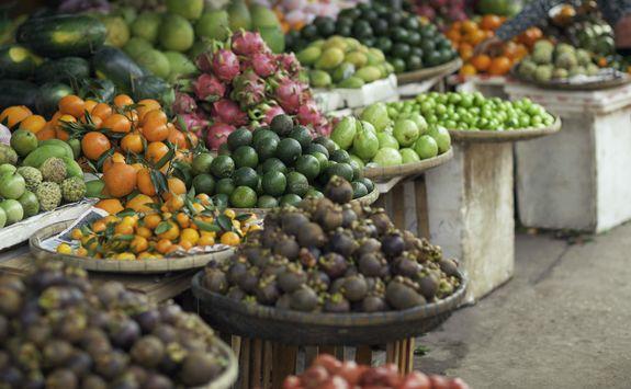 Fruit market in Hoi An