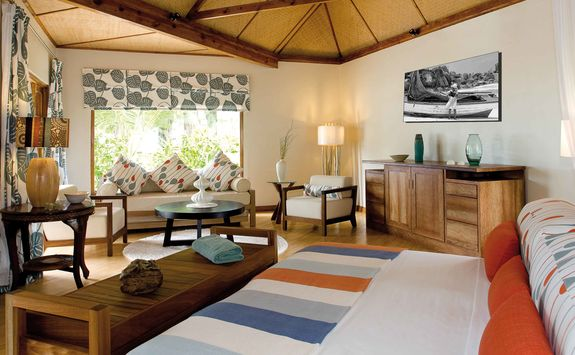 double bedroom at Denis Island