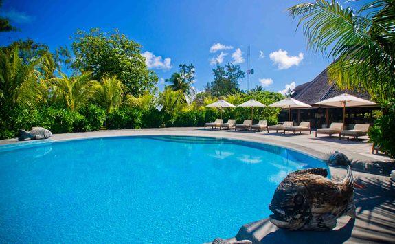 swimming pool at Denis Island