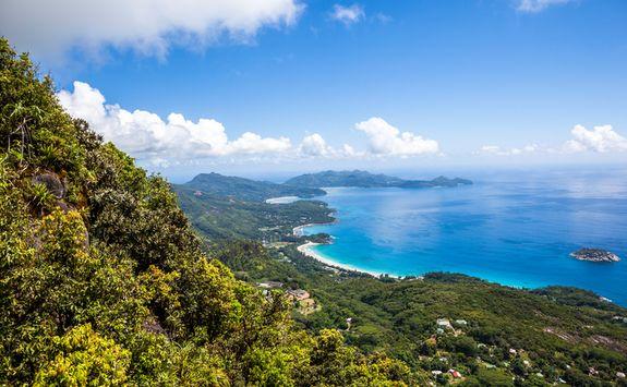 tropical seychelles island