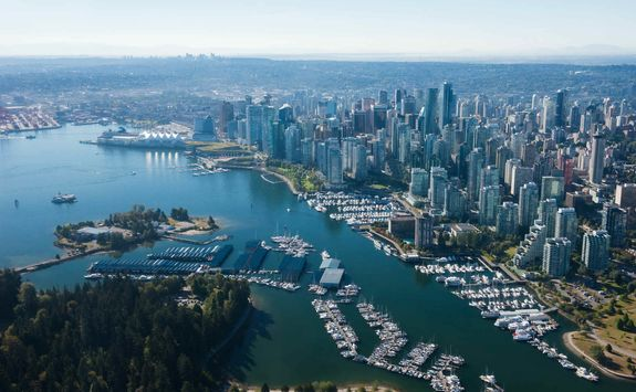 Aerial image of Vancouver
