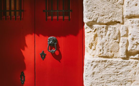 Traditional door in Malta