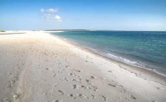 Empty beach in Bazaruto