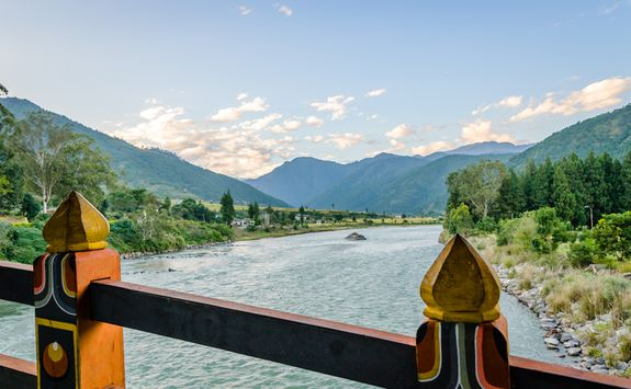 Punakha dzong river view