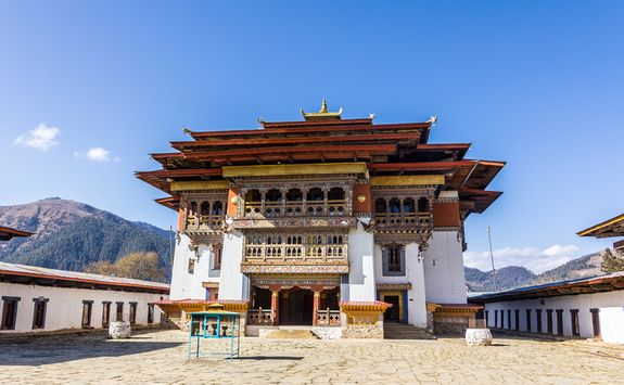 Gangtey monastery entrance