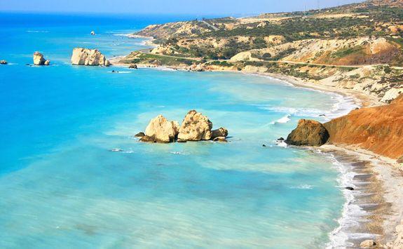The blue ocean in Cyprus