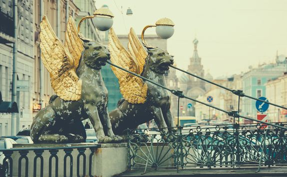 St Petersburg lion