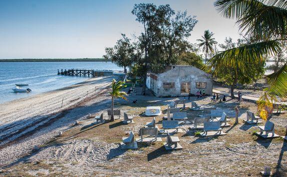 Building on island
