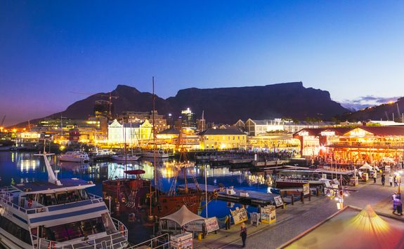 cape town port at night