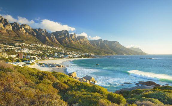 the beach in Cape Town