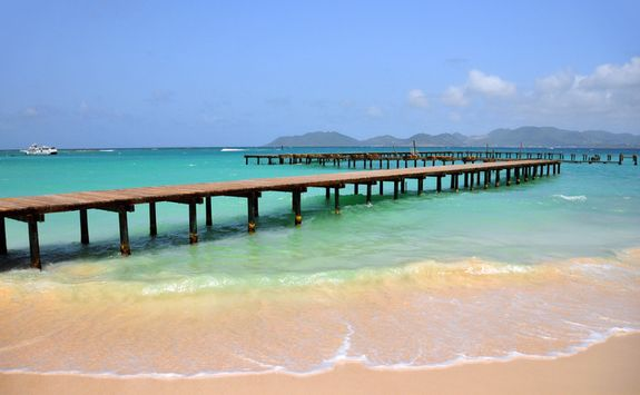 Pier over the Caribbean sea