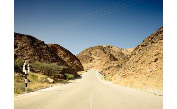 Hajar Mountain country road