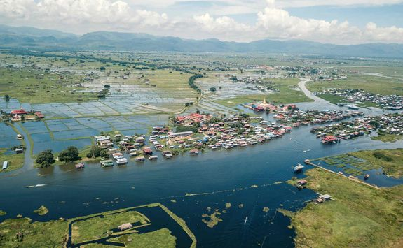Lake Inle aerial view