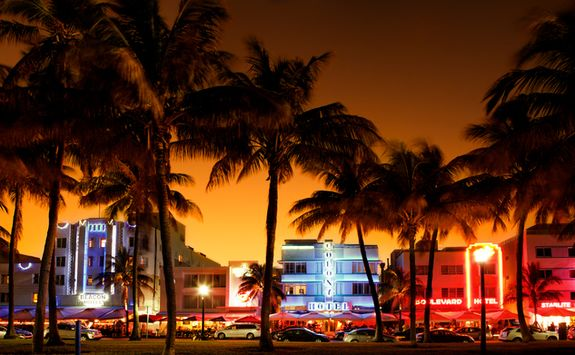 Ocean Drive at night time