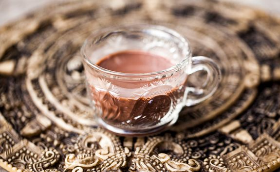 melted cacao drink