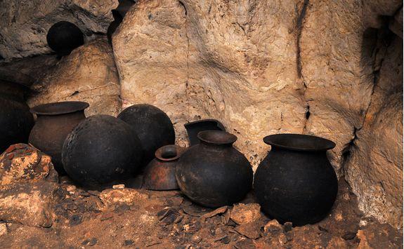 Ancient Mayan pots