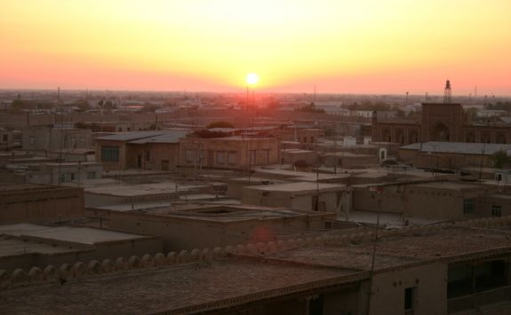 sunrise in Khiva