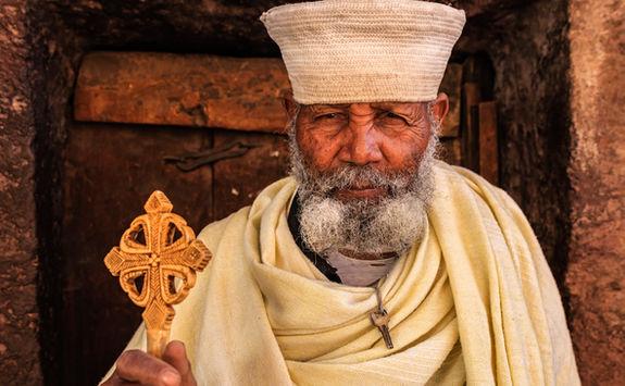 Catholic priest in Lalibela