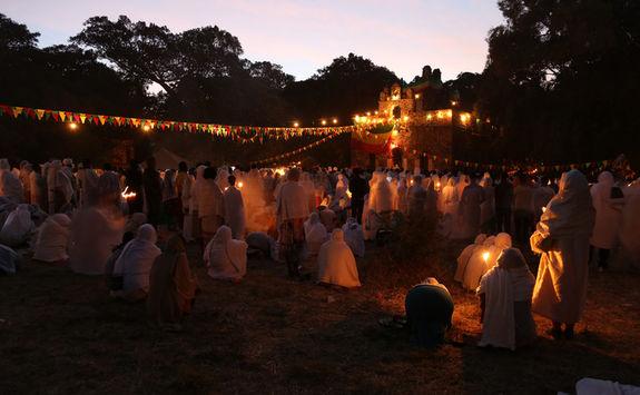 Timkat festival, Gondar