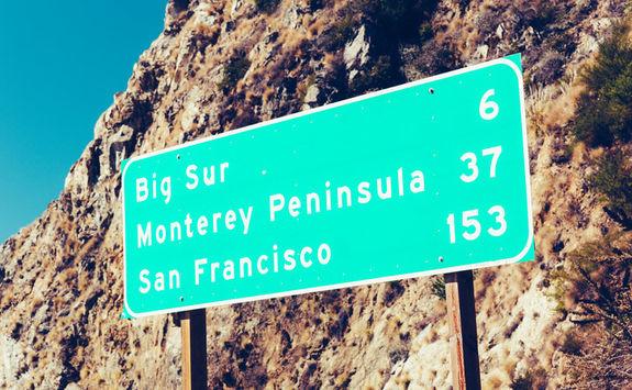 Big Sur Road Sign
