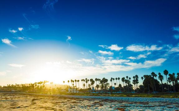 Santa Barbara beach sunset