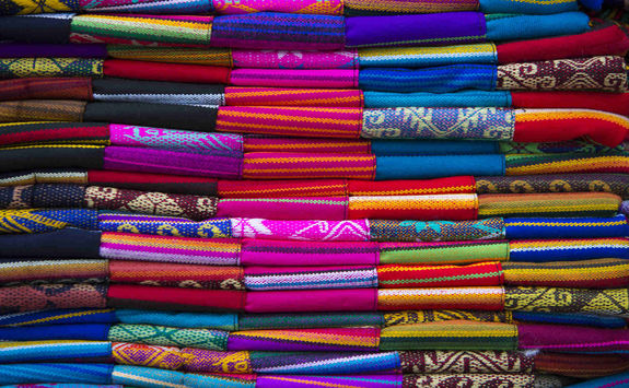 Colourful fabrics market