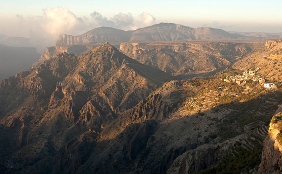 Hajar mountain plateau