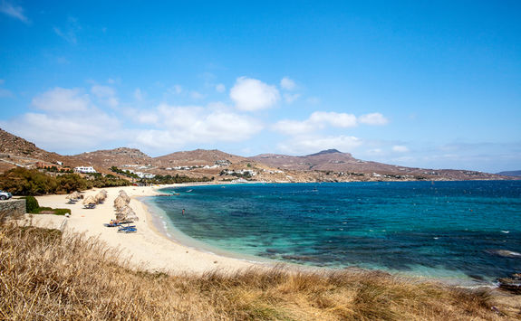 Sandy beach in Mykonos