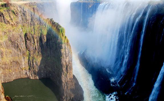 Rainbow over Victoria Falls