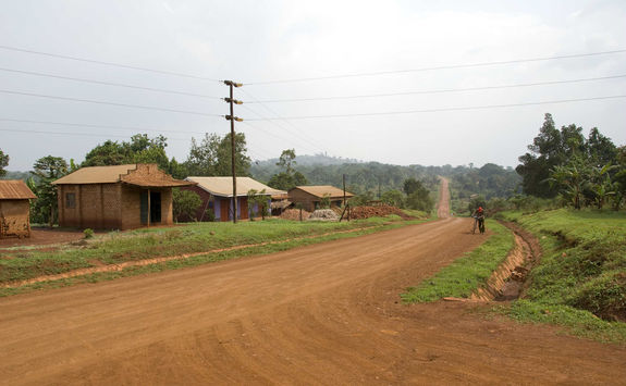 Dusty road in Uganda